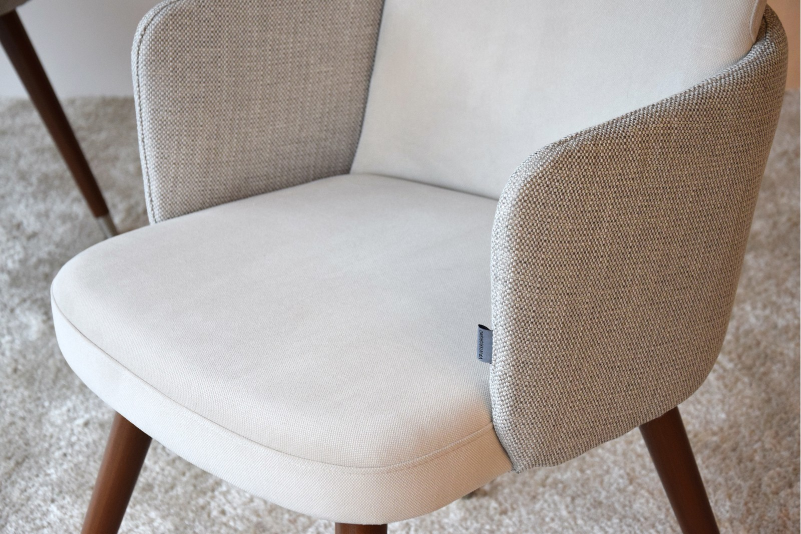 SET 2 DINING CHAIRS. BEIGE COLOR