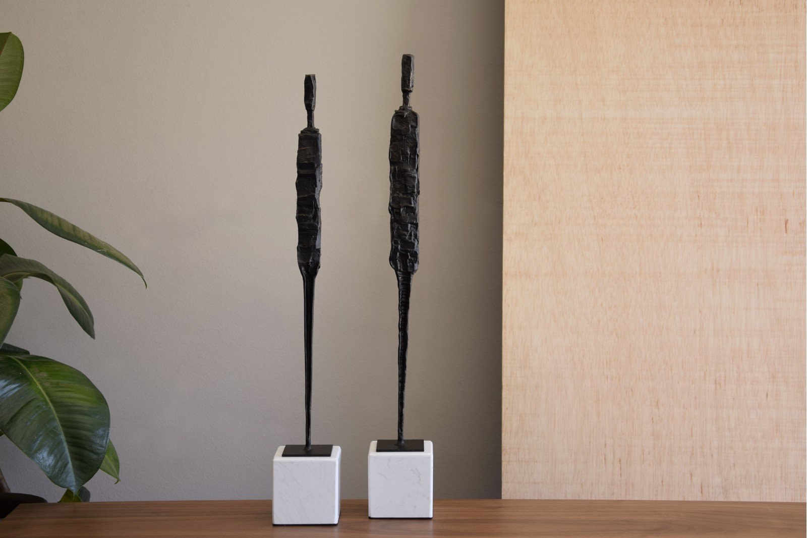 MAN COLLECTION. MARBLE BASE METAL SCULPTURE