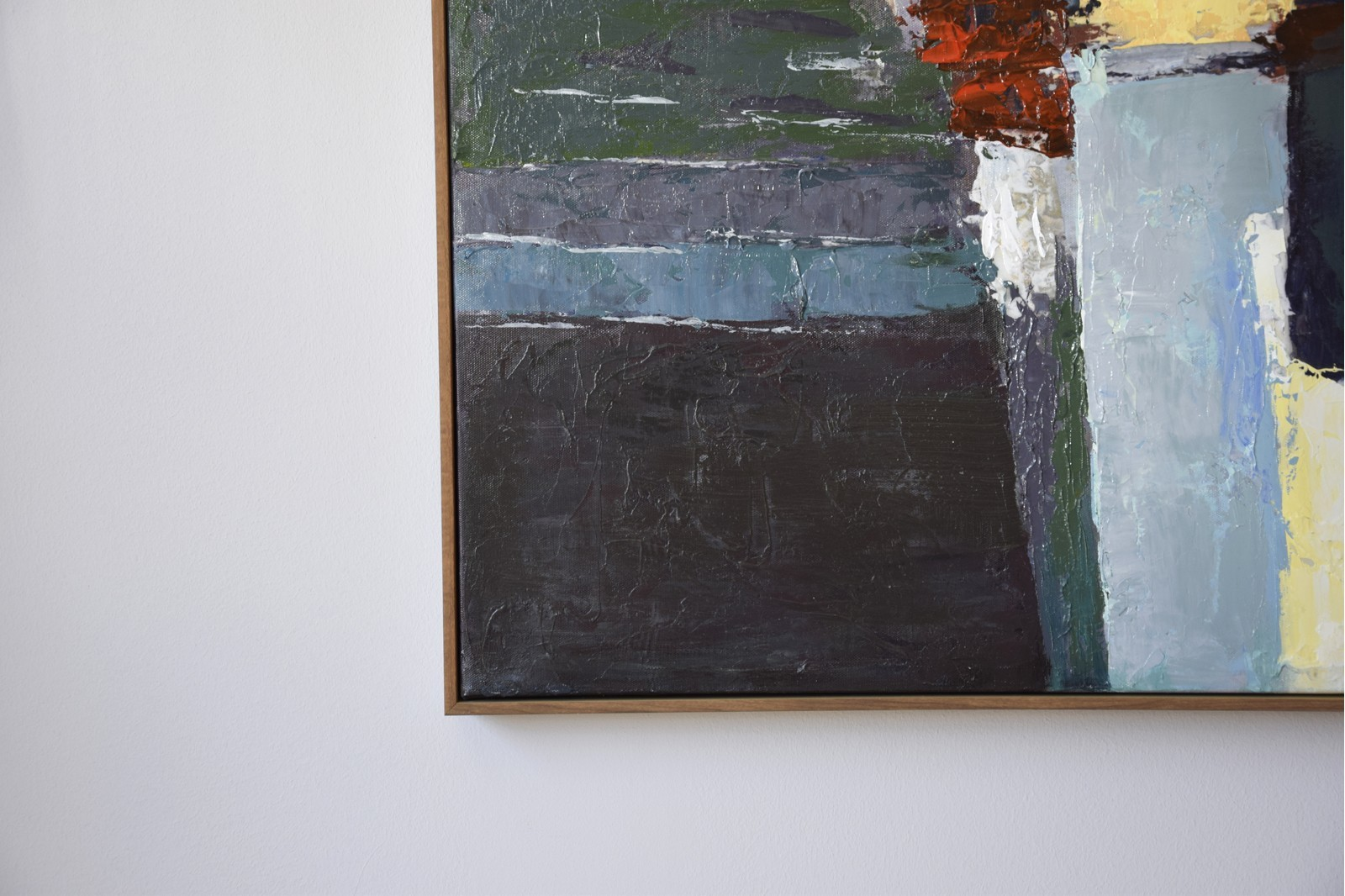 ABSTRACT PAINTING COLORS WITH FRAME