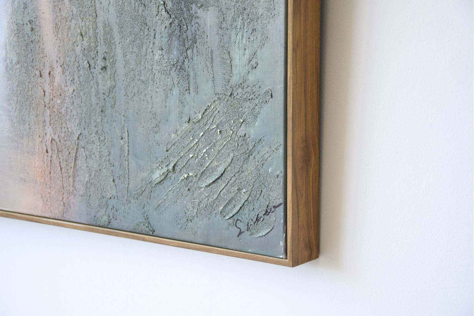 ABSTRACT PAINTING EARTH WITH FRAME