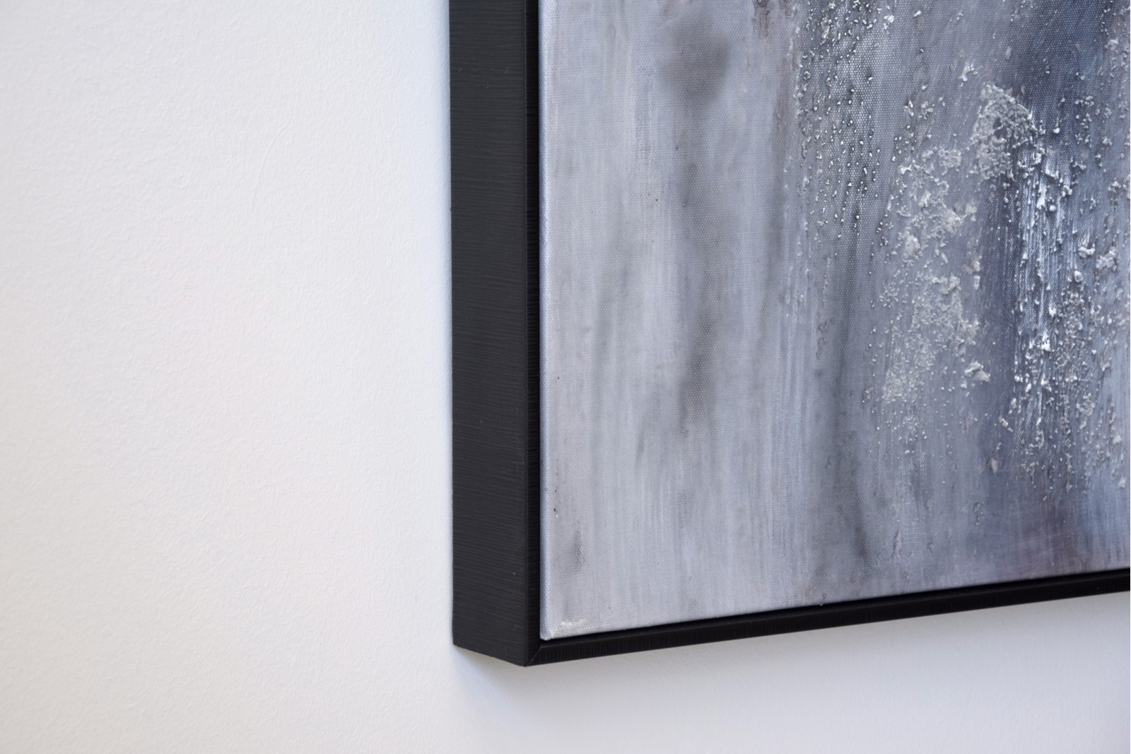 ABSTRACT PAINTING SNOW WITH FRAME