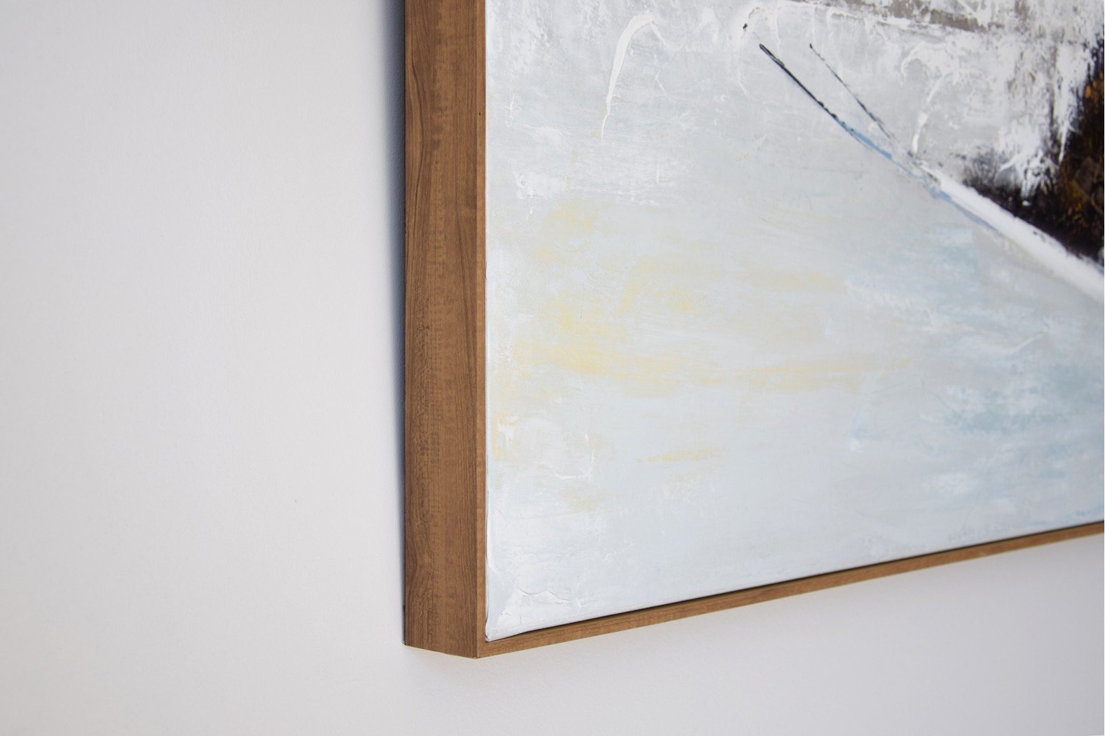 ABSTRACT PAINTING SHADOWS WITH FRAME