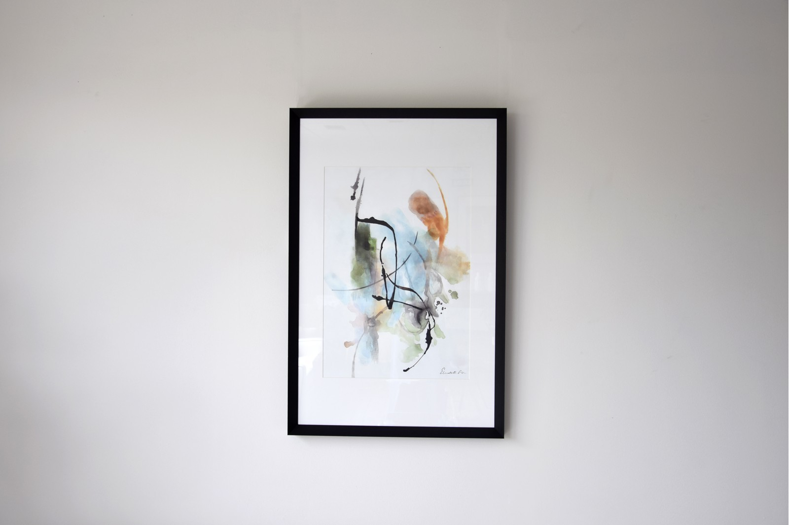 ABSTRACT PAINTING TRACES N.7. GLASS