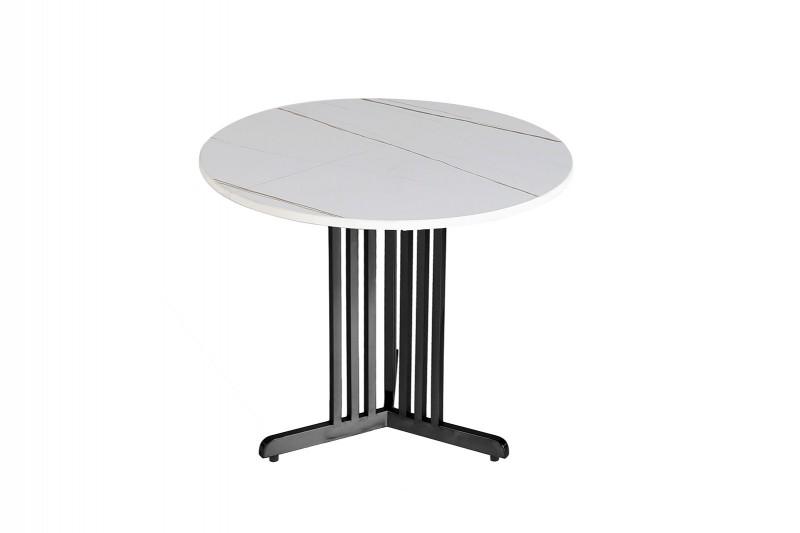 SIDE TABLE N.06 METAL STONE WHITE