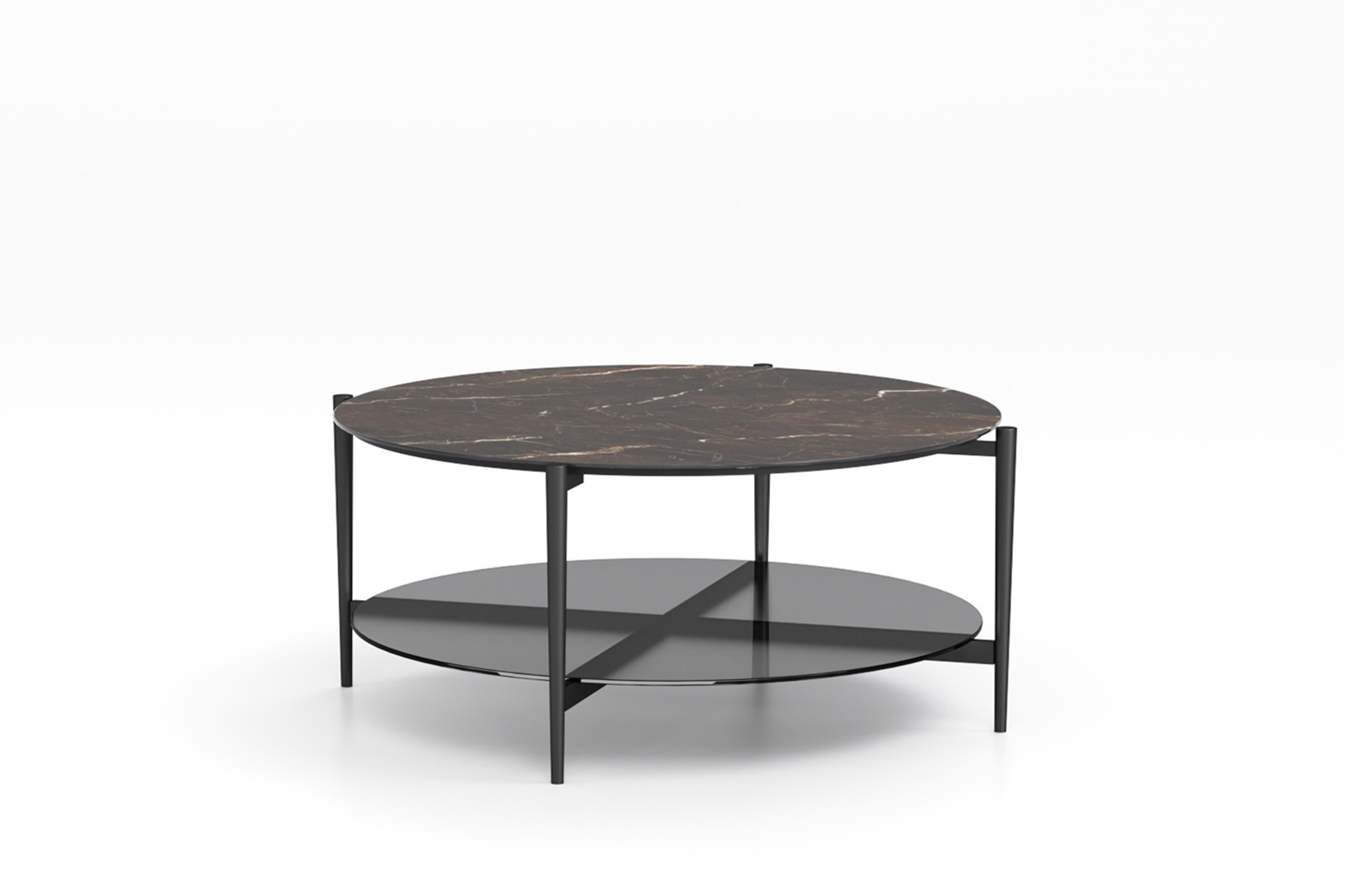 COFFEE TABLE N.53 METAL CERAMIC GLASS