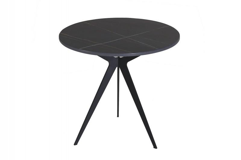SIDE TABLE N.08 METAL STONE BLACK