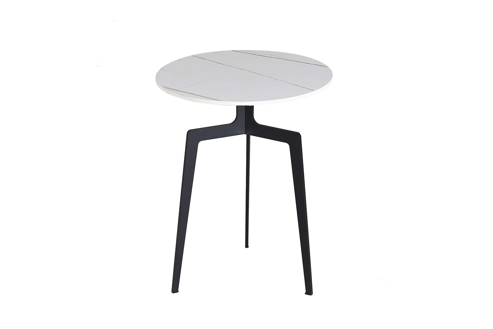 SIDE TABLE N.02 METAL STONE WHITE