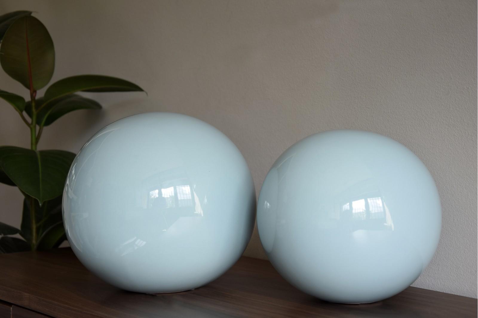 CERAMIC PLAIN BLUE BALLS COLLECTION XL
