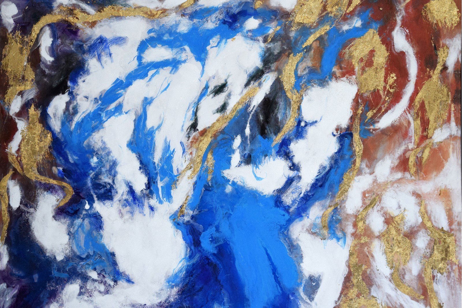 ABSTRACT PAINTING STORM N2 WITH FRAME