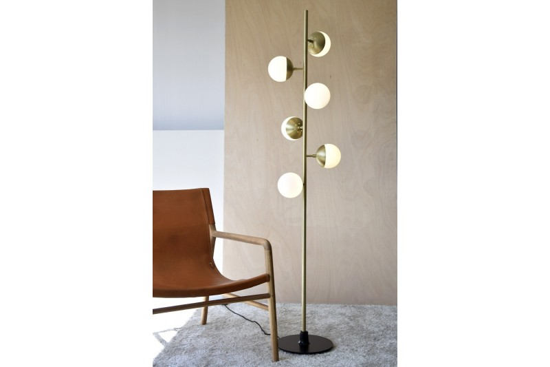 FLOOR LAMP LUSCOFUSCO. METAL-GLASS