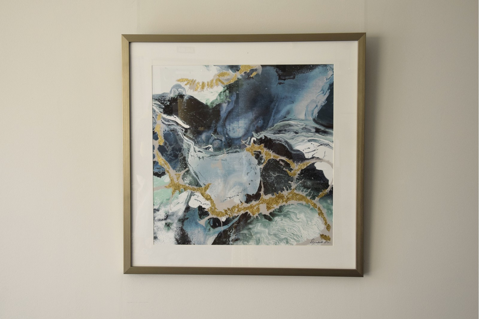 ABSTRACT PAINTING WATER N2. GLASS
