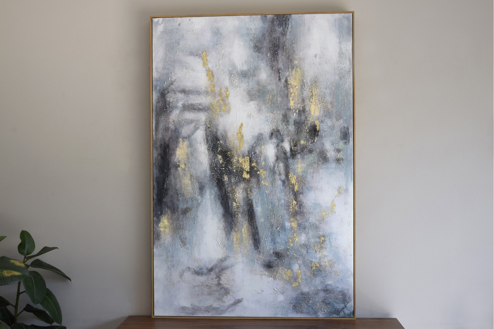 ABSTRACT PAINTING FOG N1 WITH FRAME