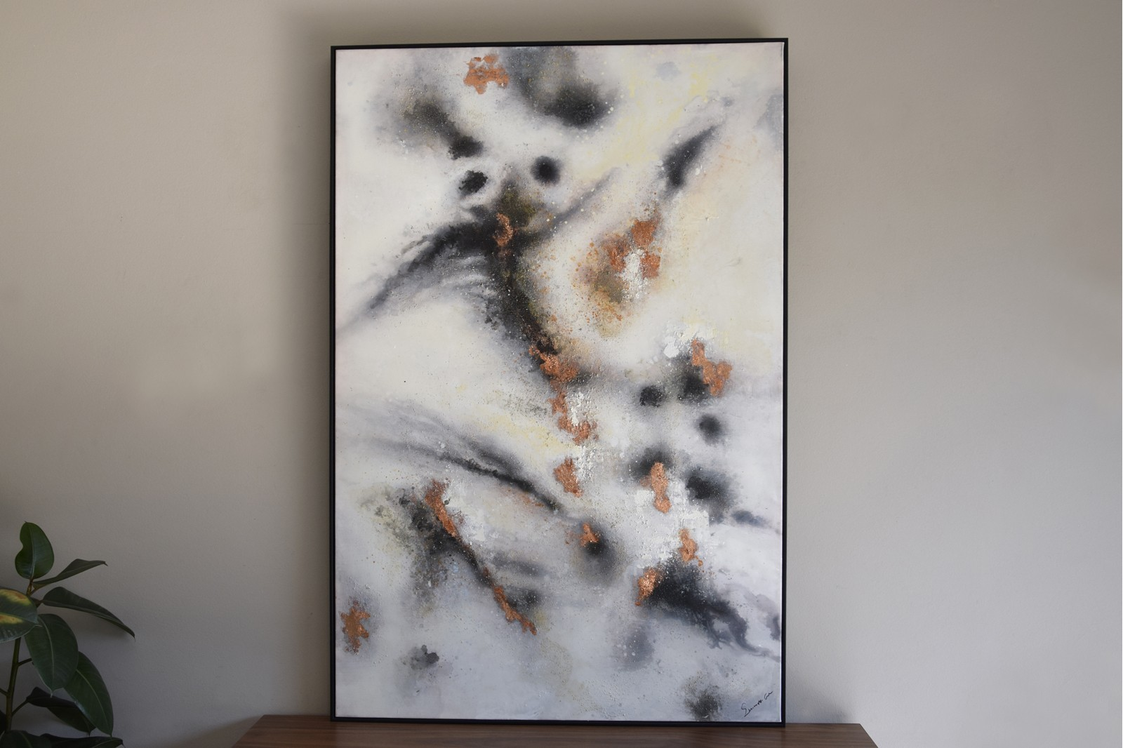ABSTRACT PANTING ON CANVAS WITH FRAME