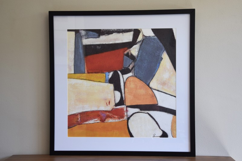 ABSTRACT PAINTING COLOUR N1. CRYSTAL FRAME