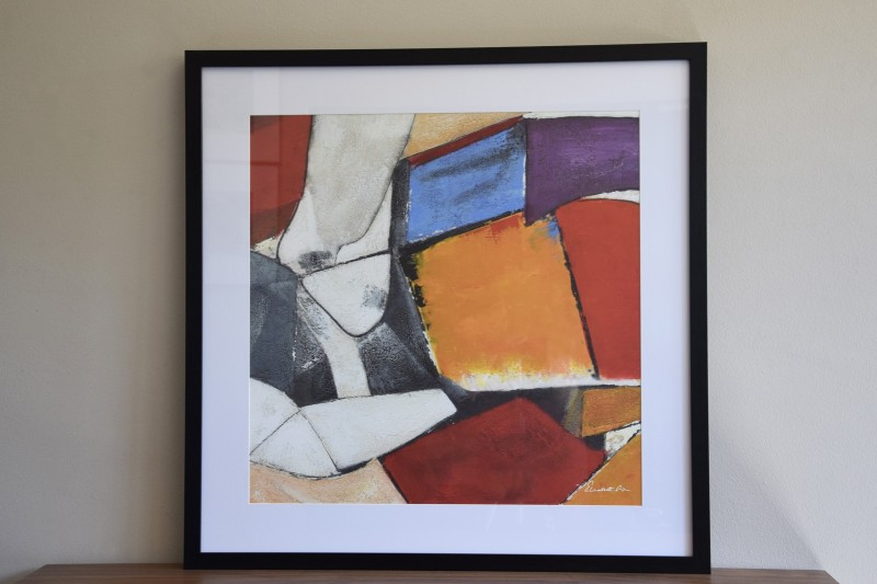 ABSTRACT COLOUR PAINTING N2. CRYSTAL FRAME