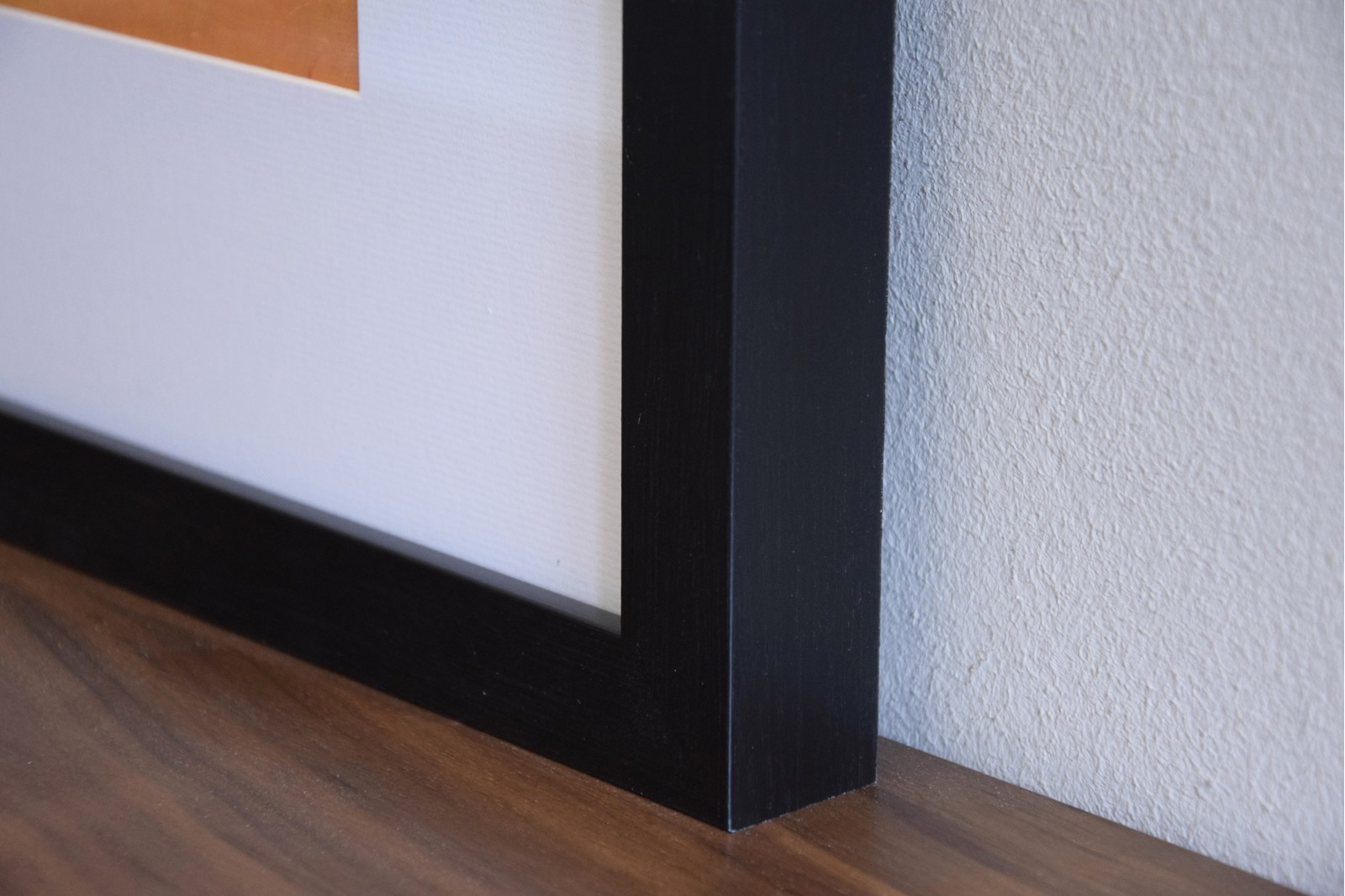 ABSTRACT PAINTING ON PAPER WITH FRAME