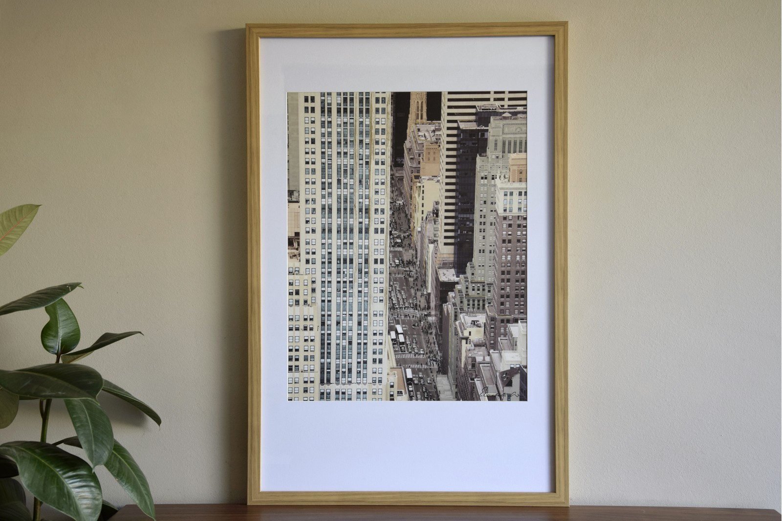 CITY PHOTO FRAME N1. GLASS AND FRAME
