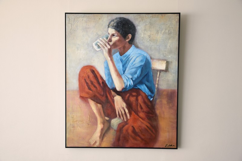 DECORATIVE PAINTING WOMAN N1 WITH FRAME