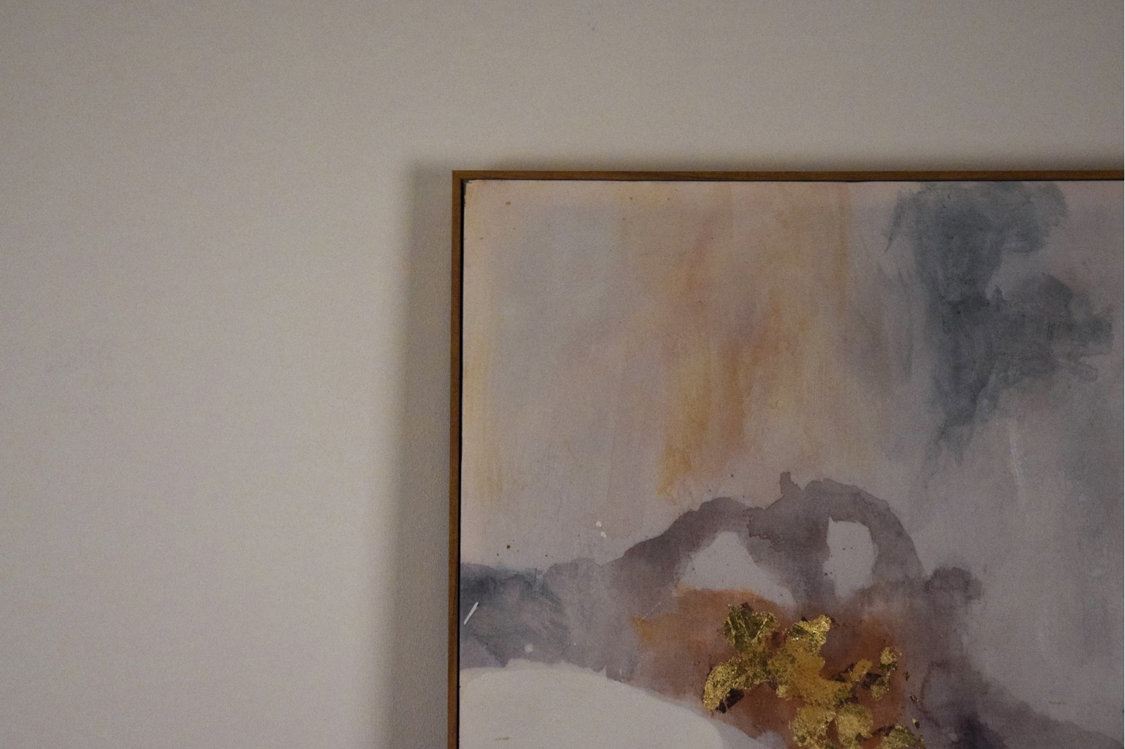 ABSTRACT PAINTING WITH FRAME