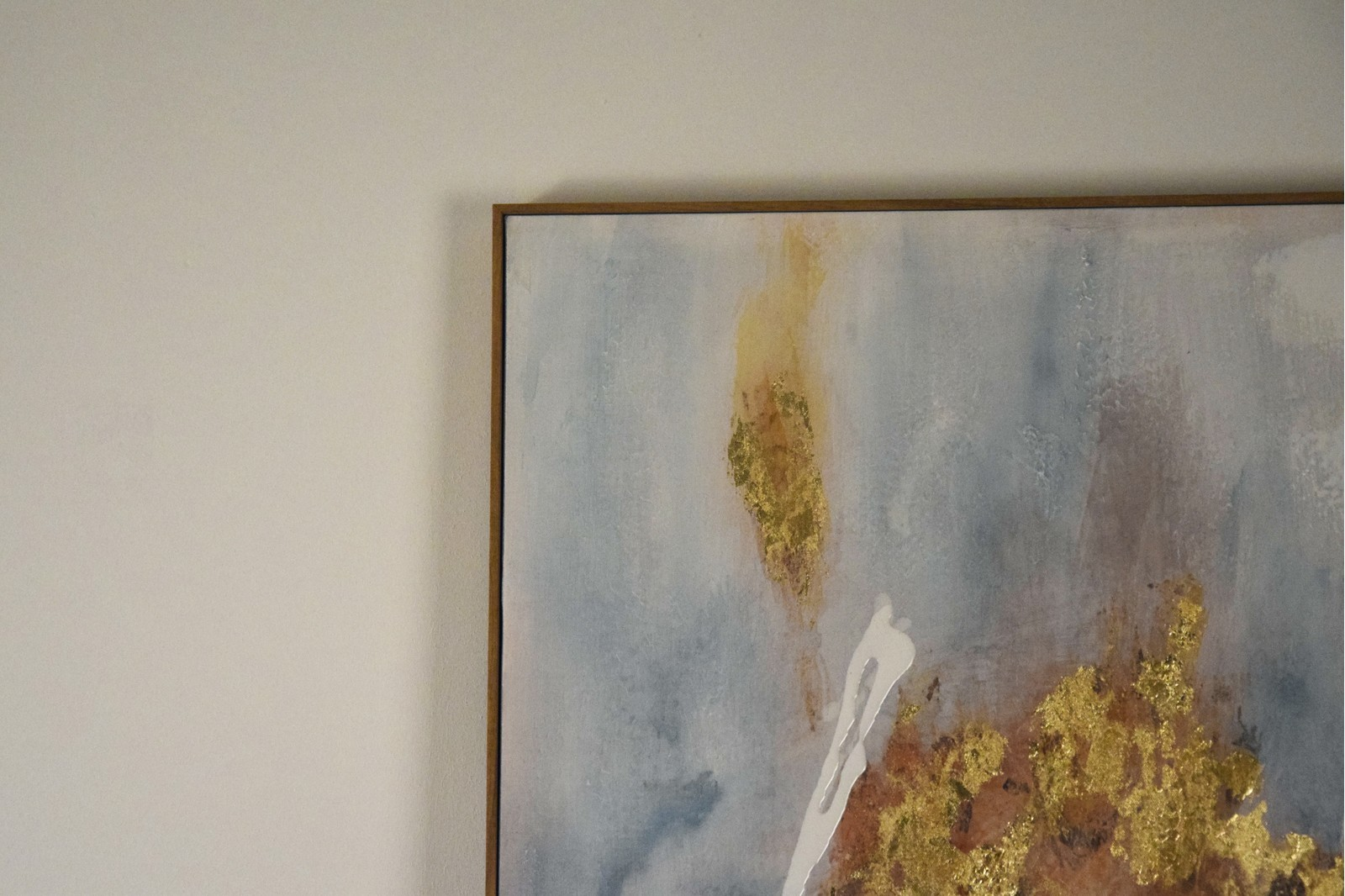 ABSTRACT PAINTING VOLCANO N2 WITH FRAME