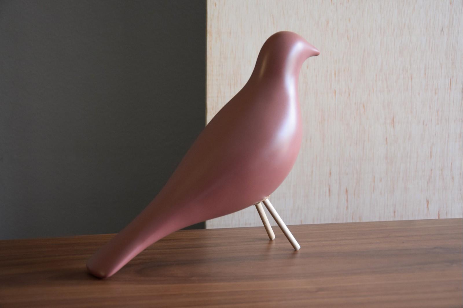 CERAMIC BIRD.MATT DARK PINK