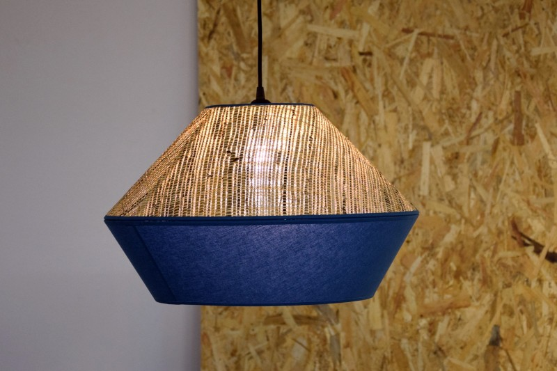 CEILING LAMP. RAFIA-BLUE