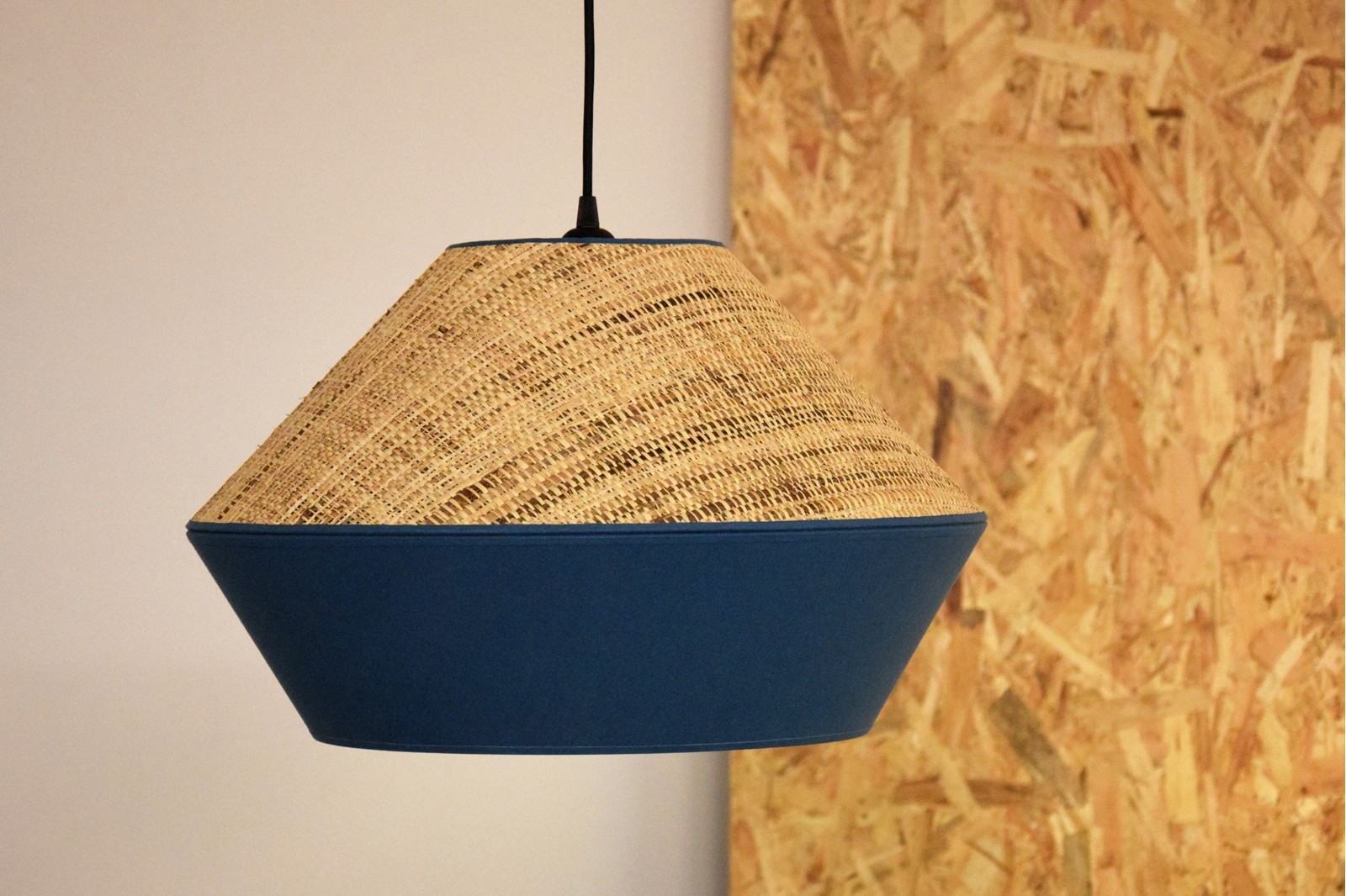 CEILING LAMP. RAFIA-BLUE
