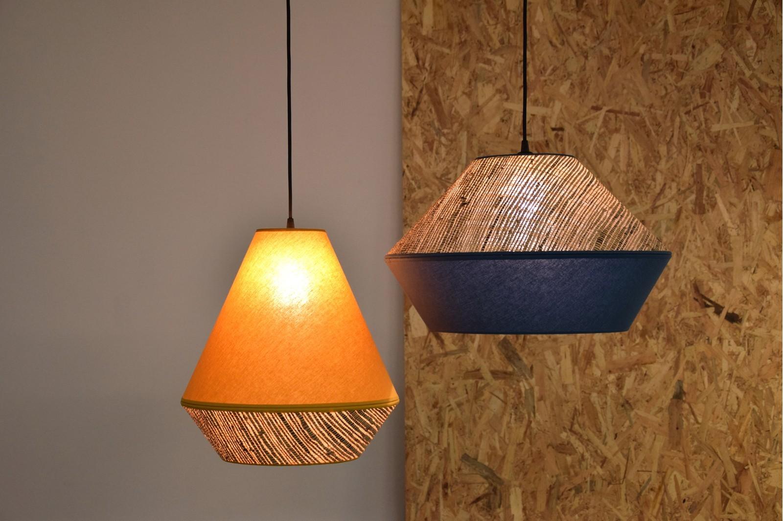 CEILING LAMP. RAFFIA-MUSTARD YELLOW