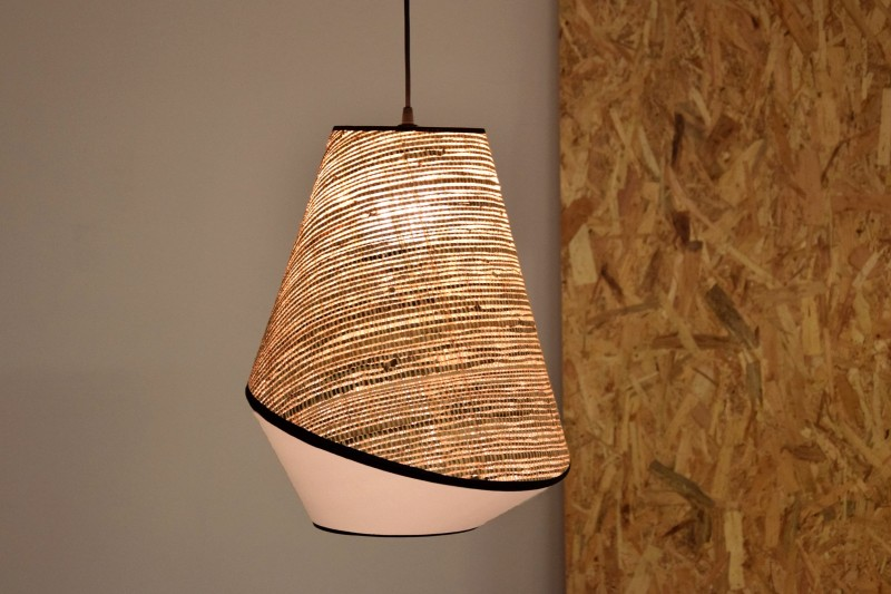 CEILING LAMP. RAFFIA-WHITE-BLACK