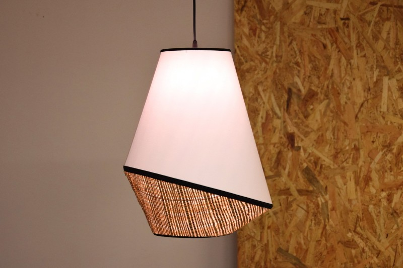 CEILING LAMP. RAFFIA | WHITE| BLACK