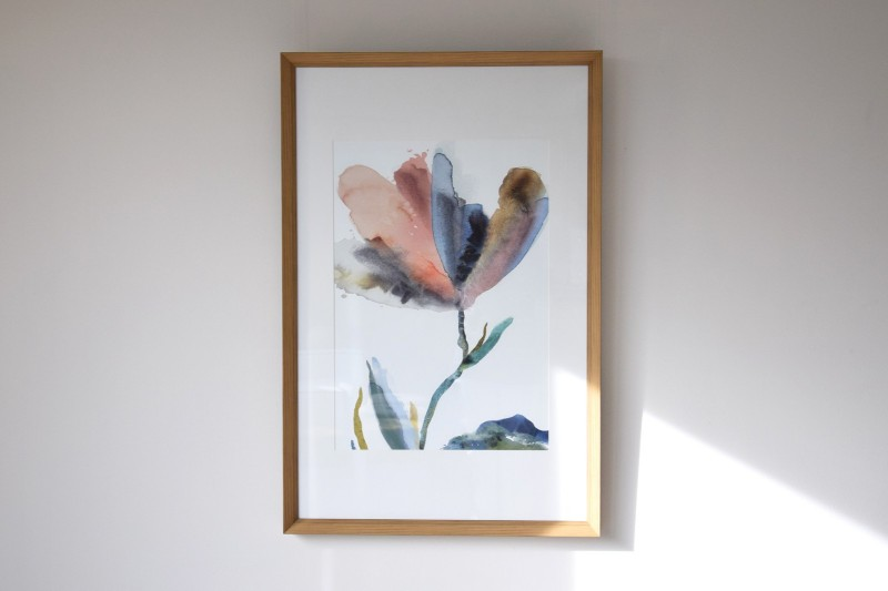DECORATIVE PAINTING FLOWER N1. GLASS.