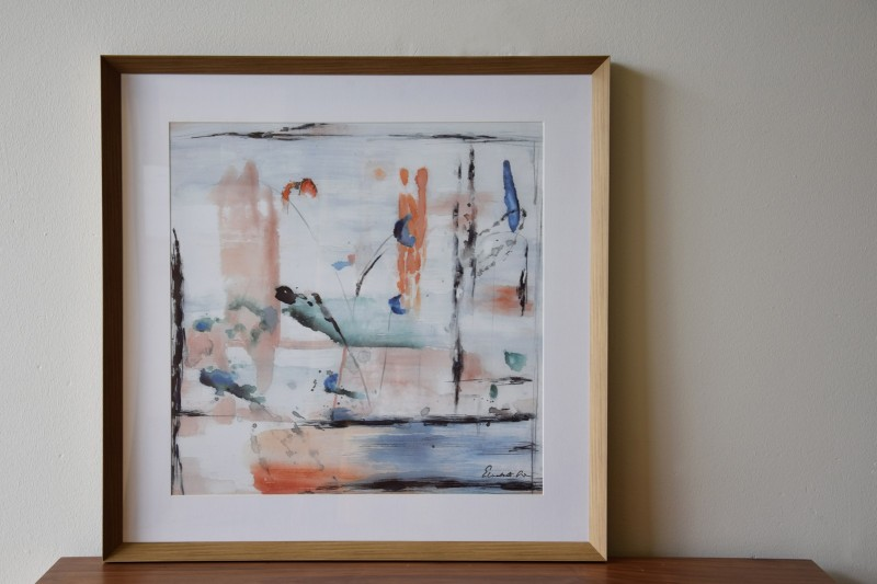 ABSTRACT  PAINTING WATERCOLOUR N1. GLASS