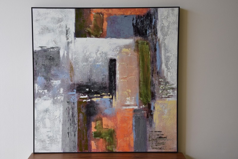 ABSTRACT PAINTING INDUSTRY N2 WITH FRAME