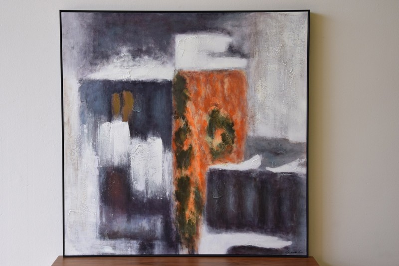 ABSTRACT PAINTING INDUSTRY N1 WITH FRAME
