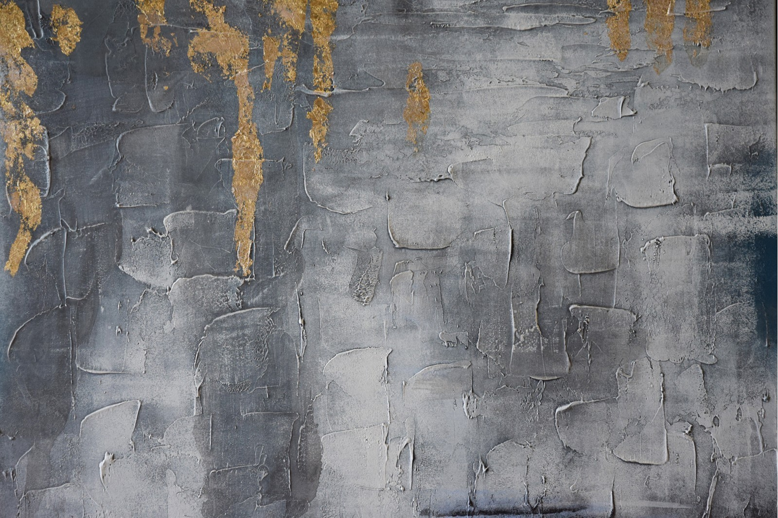 ABSTRACT PAINTING CONCRETE GREY WITH FRAME