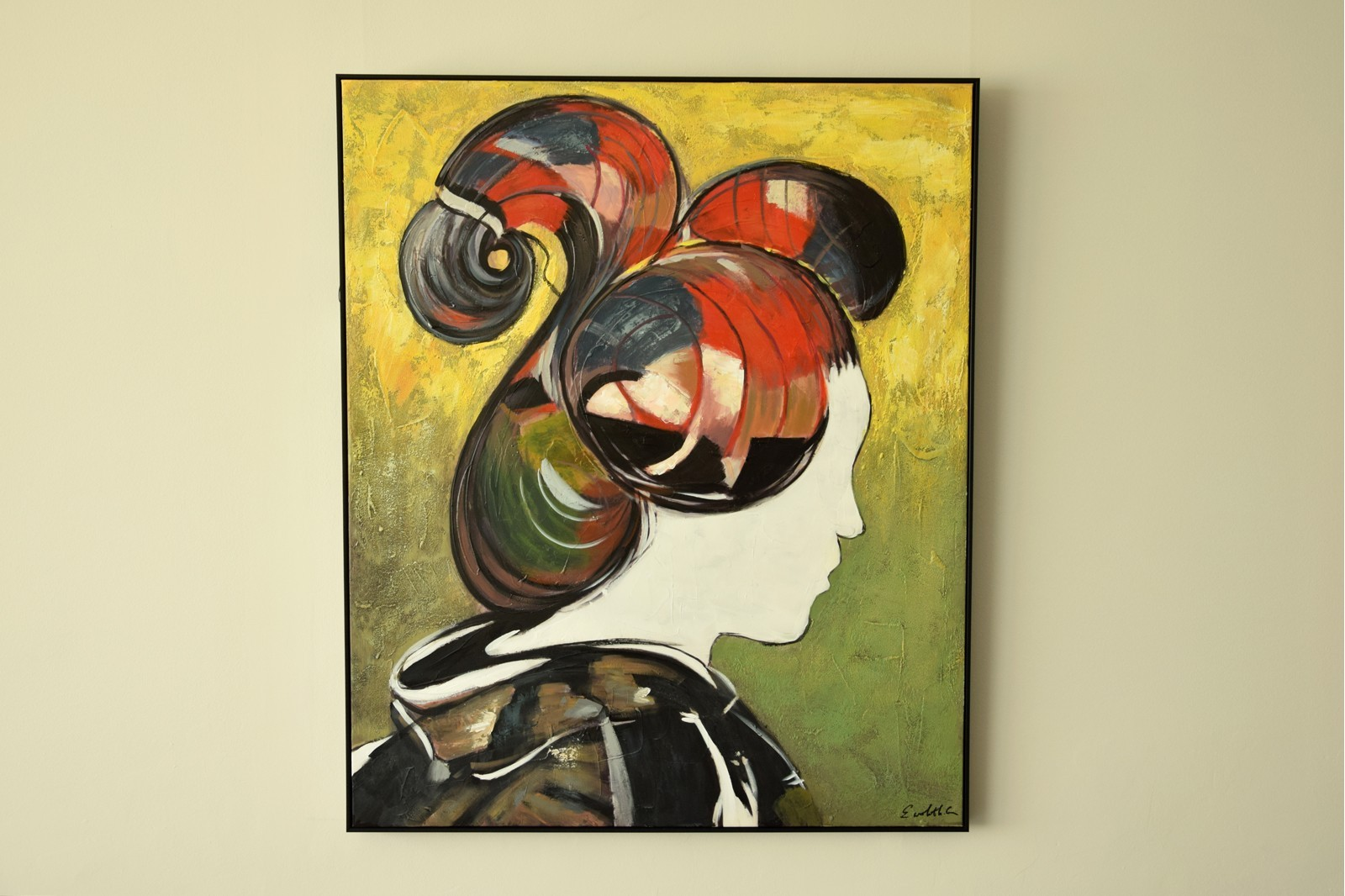 MODERN PAINTING  JAPANESE N1 WITH FRAME