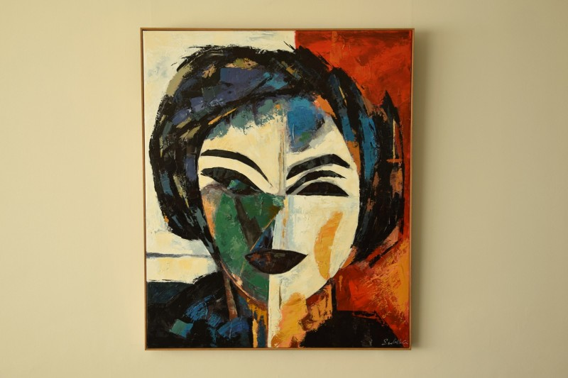MODERN PAINTING WOMAN N1 WITH FRAME