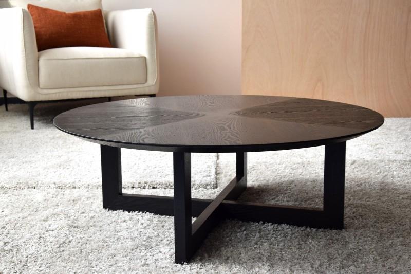 ROUND COFFEEE TABLE. ASH. MATT BLACK