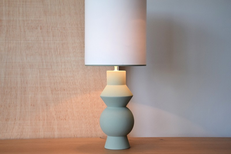 CERAMIC LAMP FORMA MOSS COLOR
