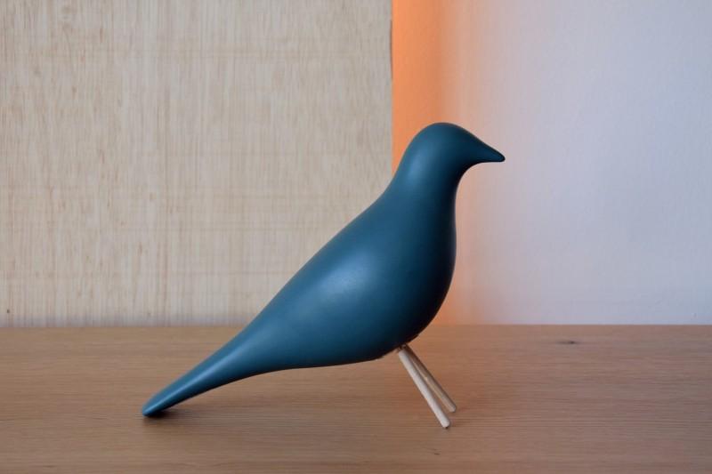 CERAMIC BIRD.MATT DARK BLUE