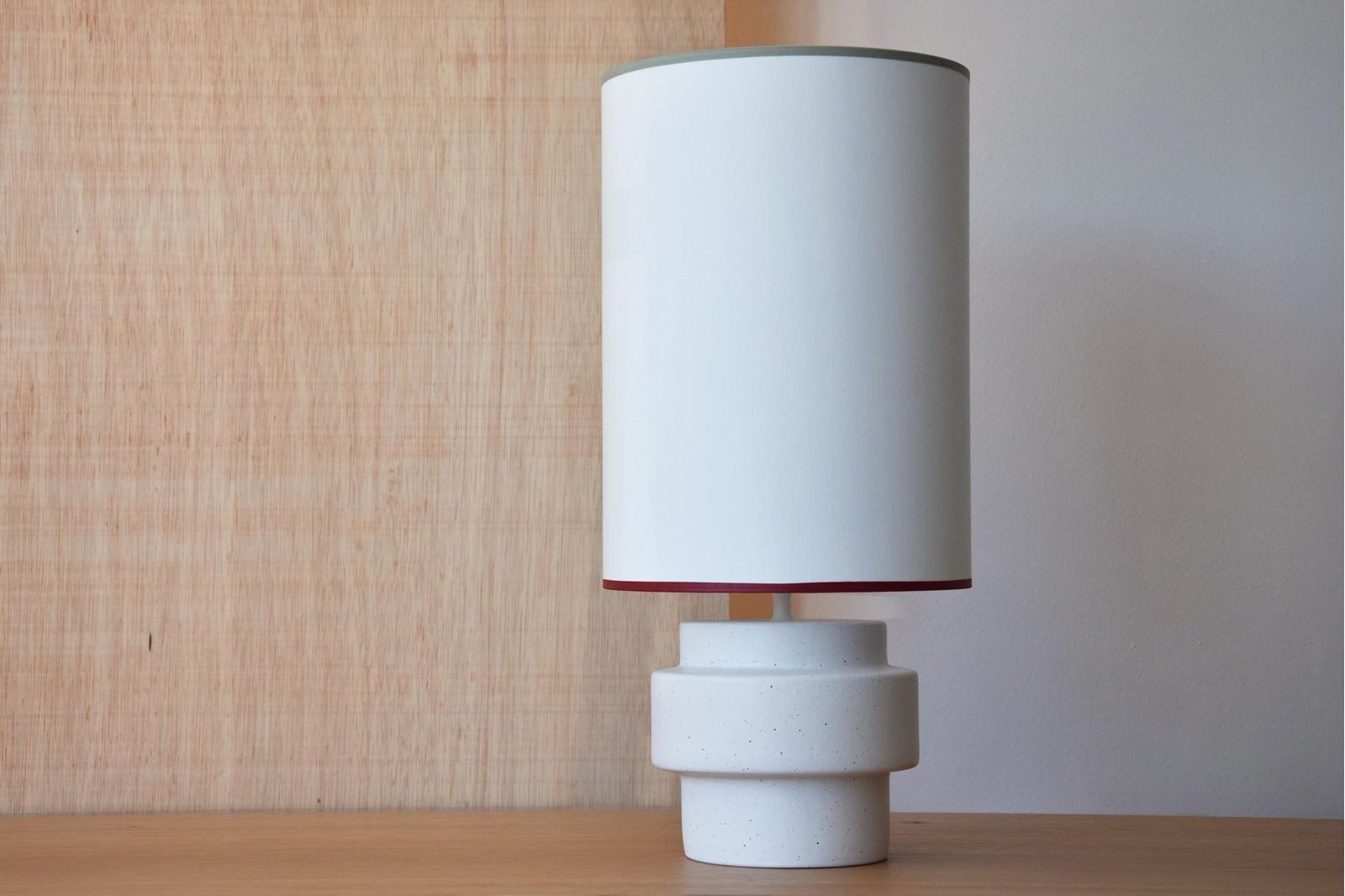 CERAMIC LAMP GEO W/SHADE