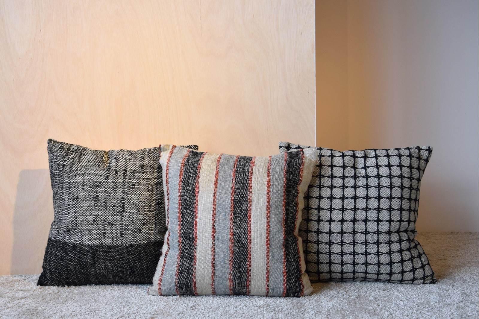 CUSHION COTTON BLUE BANDS. NAMIBIA COLLECTION N.4