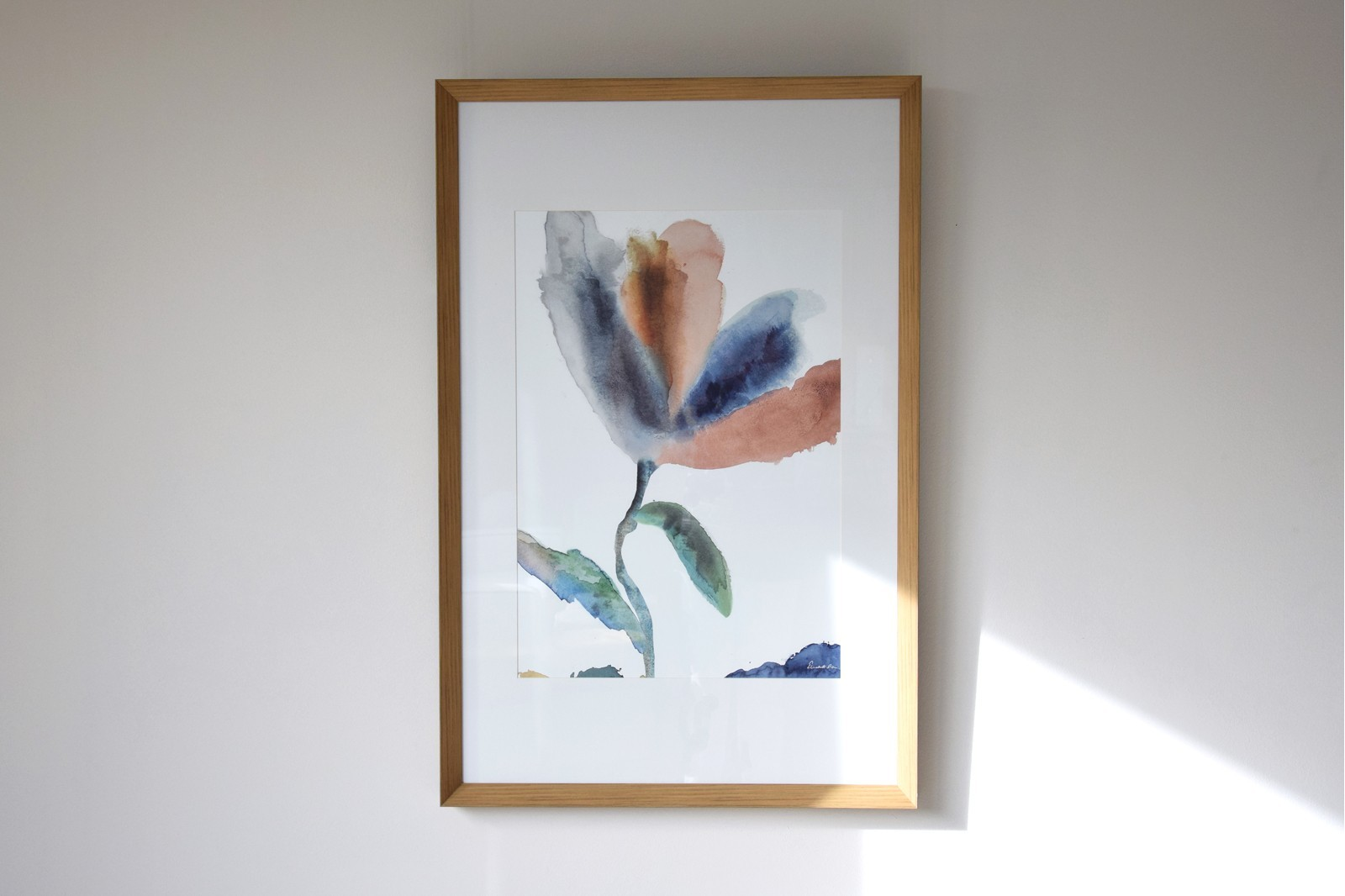 DECORATIVE PAINTING FLOWER N2. GLASS