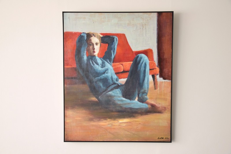 DECORATIVE PAINTING WOMAN N2 WITH FRAME