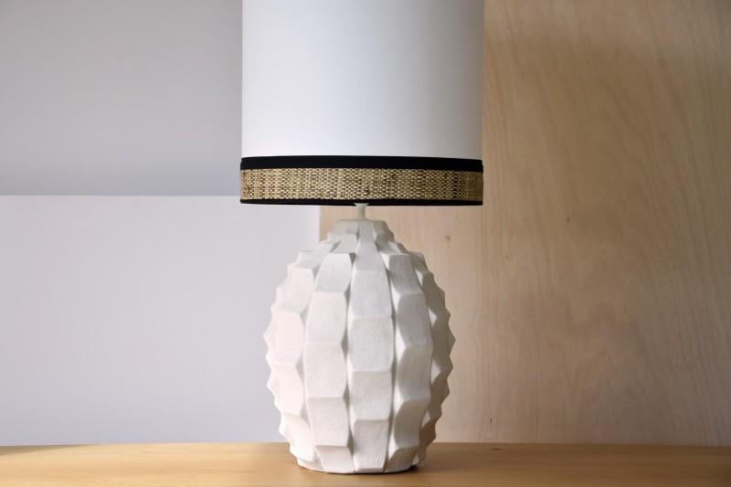 CERAMIC LAMP ELENA W/SHADE