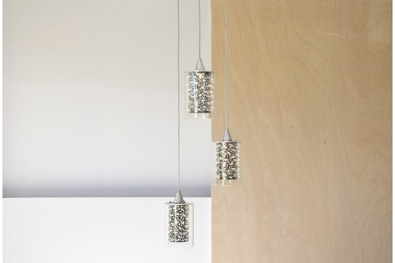 CEILING LAMP WATERFALL. 3 LED LIGHTS. PE