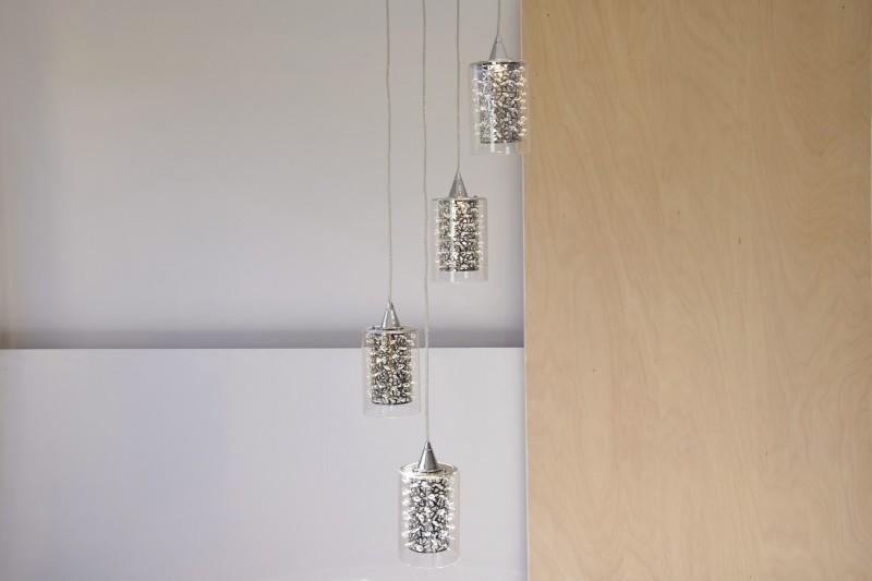 CEILING LAMP WATERFALL. 4 LED LIGHTS. PE