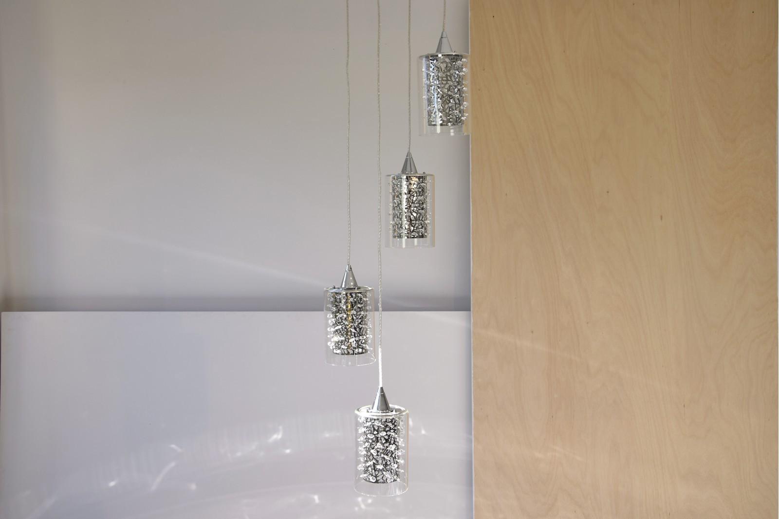 LAMPARA DE TECHO CASCADA LED 4x5W PE