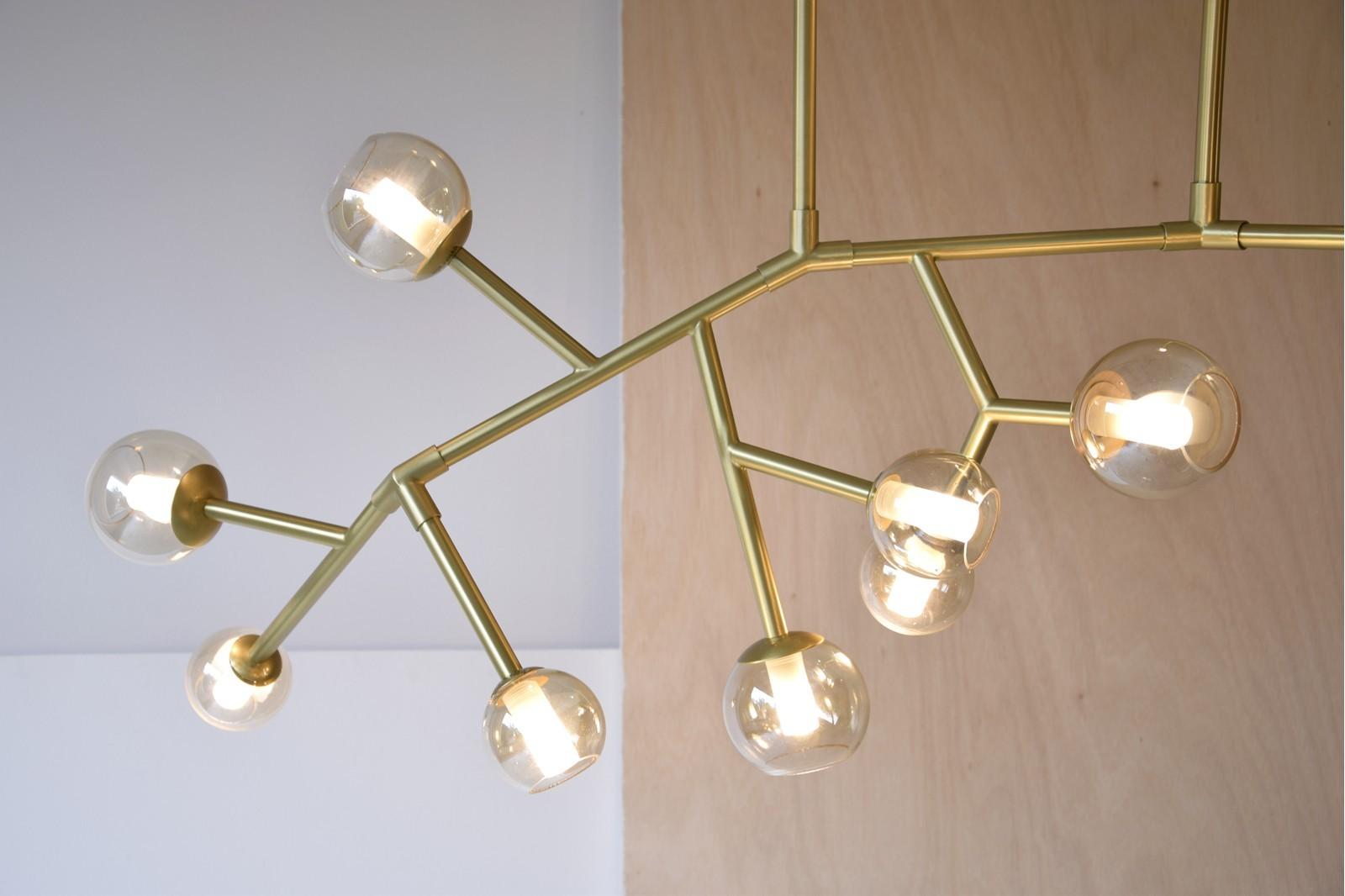 CEILING LAMP ORBALLO. METAL GLASS