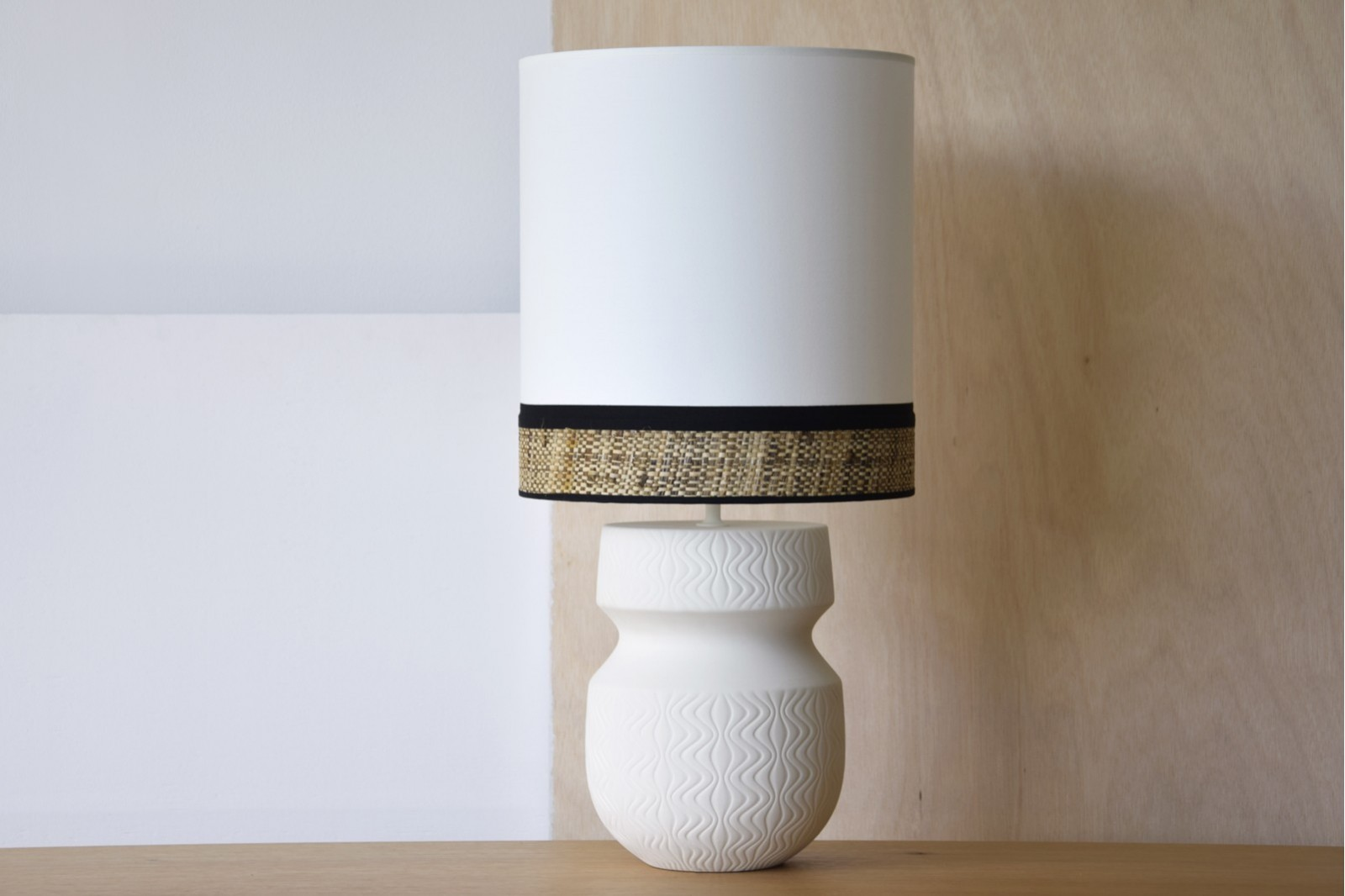 CERAMIC LAMP EVA W/SHADE